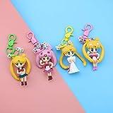 Dhl 4 Arten Karikatur-Sailor Moon Keychain Beutel-Anhänger Anhänger Netter Wasser-EIS-Mond Geburtstags-Geschenk 5CM
