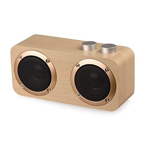 Bluetooth Beweglicher Lautsprecher Aus Holz Qualität Mini-Lautsprecher Subwoofer Bluetooth Low Rotary Switch Mit Audio-Kabel Mini-Desktop-Bluetooth-Lautsprecher,B