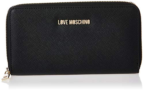 Love Moschino Jc5552pp06, Portafoglio Donna, Nero (Black PU), 3x11x20 cm (W x H x L)