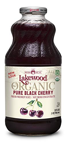 Lakewood Organic PURE Black Cherry Juice, 32-Ounce Bottles (Pack of 6)