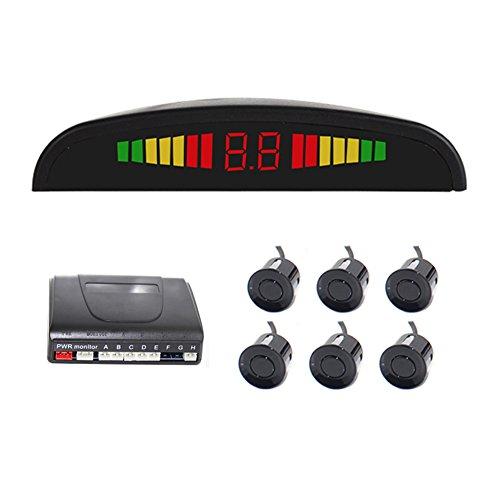 Vehicle Reverse Backup Radar System Car Radar System Packing Sensor Kit 6 Sensors Auto Safety LED Display with Warning Buzzer