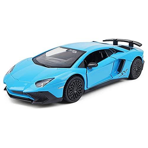Xolye Mini-Legierung Spielzeugauto-Modell kann die Tür für 3-6 Jahre öffnen alte Baby-Sportwagen-Spielzeug-Metall-Metall-splitterbeständige Jungenspielzeugauto