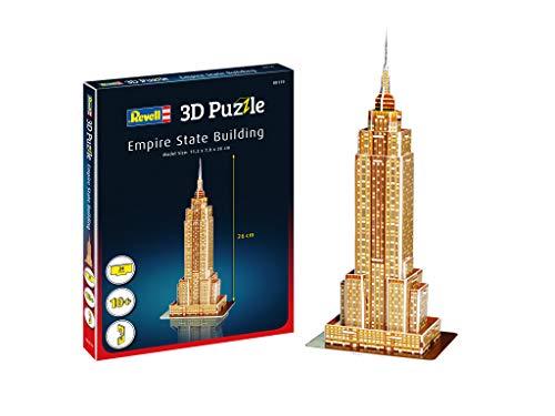 Revell 3D Puzzle- Empire State Building, Il grattacielo, Un Punto di Riferimento di New York Scopri Il Mondo in 3D, divertiti per Grandi e piccini, Colori, 119