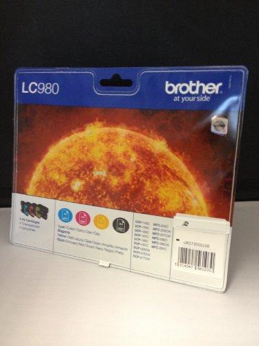 4 x Brother Patronen für Brother DCP 375 CW, Multipack (1xBk,je 1x C,M,Y) Druckerpatronen für DCP375 CW Tintenpatronen – die preiswerte Alternative finden Sie unter B-Ware