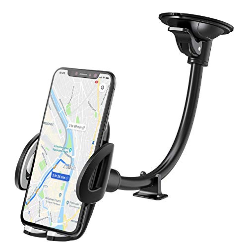 IZUKU Soporte Móvil Coche para Parabrisas [Garantía de por vida] Porta Movil Coche para iPhone X / 8/7/6, Samsung S8 / S7, Huawei, Xiaomi, teléfono inteligente y dispositivos GPS