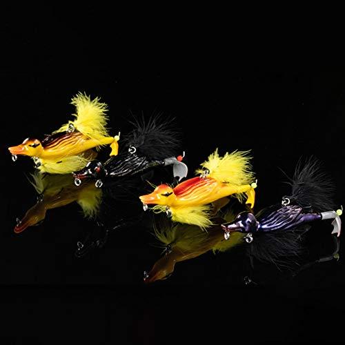 ZZYXiao color aleatorio 3D bagre pesca aparejos salvaje suicida engranaje, señuelos de pato suicida (aleatorio)