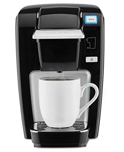Keurig K15 Coffee Maker, Single Serve K-Cup Pod Coffee Brewer, 6 to 10 Oz. Brew Sizes, Black