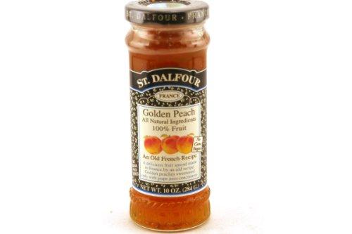 St. Dalfour, France, Golden Peach Fruit Spread, 10oz Glass Jar (Pack...