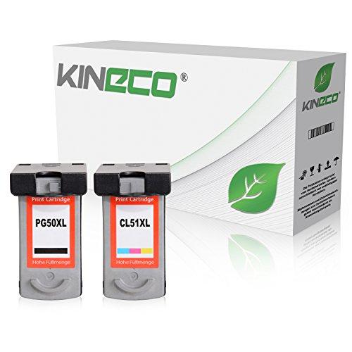 2 Kineco Tintenpatronen kompatibel zu Canon PG-50 CL-51 Pixma MP150 MP160 MP170 MP180 MP450 MP460 MX300 MX310