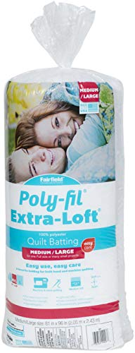 Fairfield X81B Extra Loft Quilt Batting, 81' x 96', White