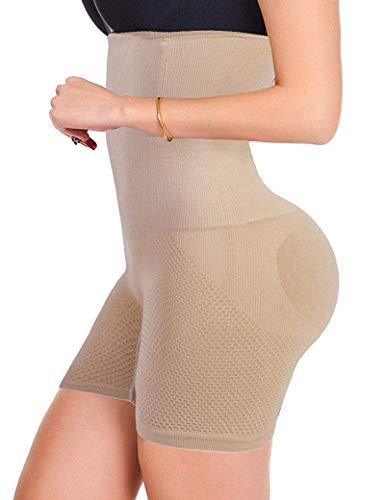 Donge Damen Shapewear Bauch Weg Figurformender Miederhosen Taillenformer Miederpants Miederslip Body Shaper (Beige, M)