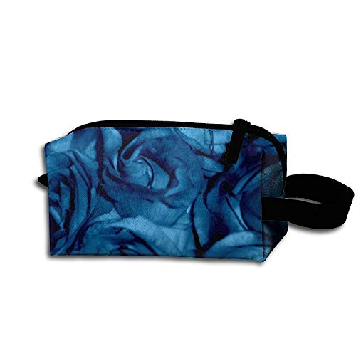 Travel Makeup Roses Can Sing The Blues Beautiful Waterproof Cosmetic Bag Quick Makeup Bag Pencil Case