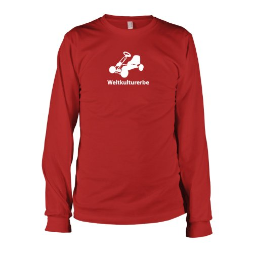 Texlab - Weltkulturerbe Tretauto - Langarm T-Shirt, Herren, Größe XXL, rot