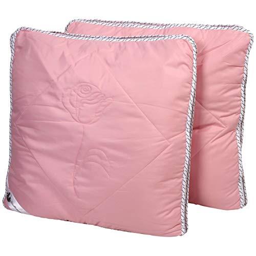 Stoffhanse Kissen 80 x 80 cm, 2er Set, rosé | Bettwaren | Kopf-Kissen | nach Öko-Tex Standard