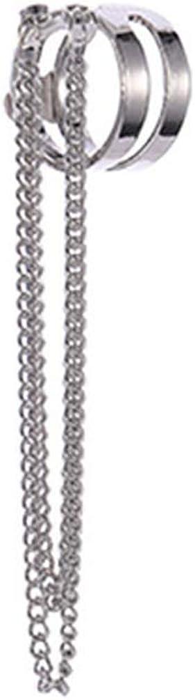 NIDEZHI Temperament Long Dangle Earrings Chain Tassel Drop Earrings Women Clip On Earrings