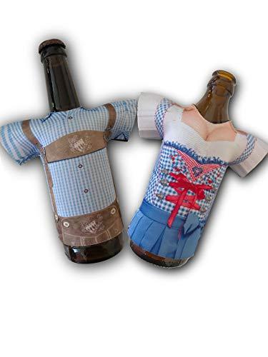 Madl & Buam Bierflaschen Kühler, Bierkühler für 0,3l und 0,5l Flaschen aus Neopren, Party- und Biergadget im Duopack