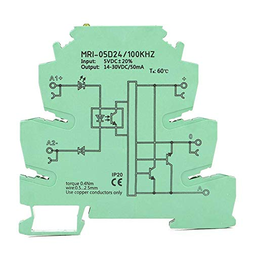 Guadang Optocoupler Isolating PLC Relay, MRI-05D24 Photoelectrical Coupling Relay 100KHZ 5V Optical High Rate Optocoupler Protection Relay