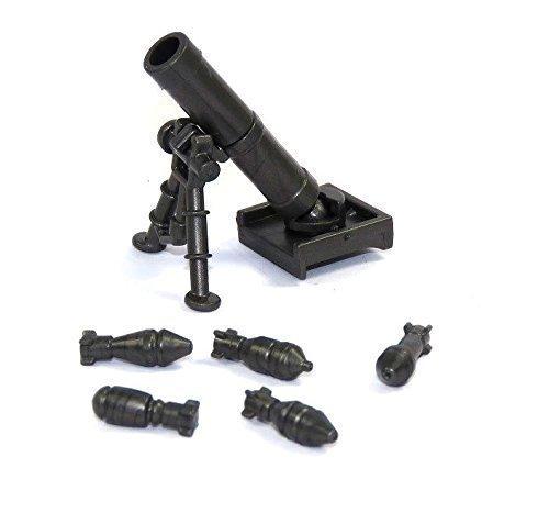 Custom Mörser M2 grau 60 mm WW2 Waffe Waffen für LEGO® Figuren