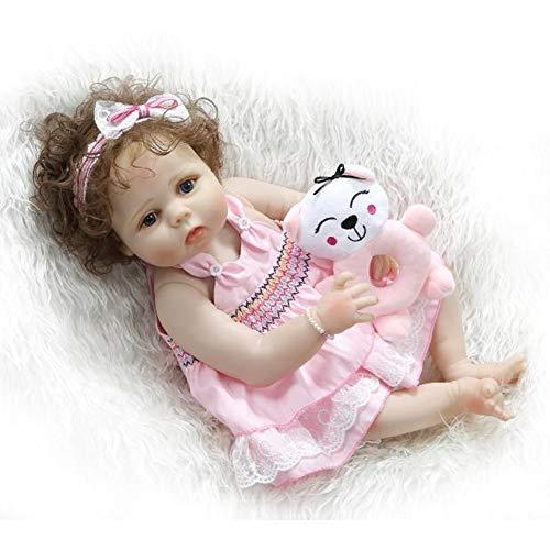 Lifelike Bambola Reborn Ragazza Corpo Morbido Silicone Di Simulazione 56 Cm Bocca Magnetica Rosa Cappotto E Cappello Bambini Giocattolo Regalo Di Compleanno