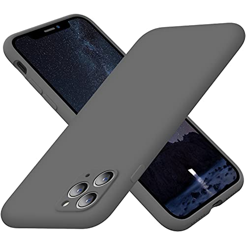 Cordking Silicone iPhone 11 Pro Max Case, Ultra Slim Shockproof Phone Case with Soft Anti-Scratch Microfiber Lining, [Enhanced Camera Protection], 6.5 inch, Space Gray