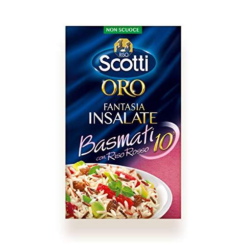 Riso Scotti, Oro Insalate Basmati 10', Mix di Riso Integrale Rosso e Riso Basmati, 800g
