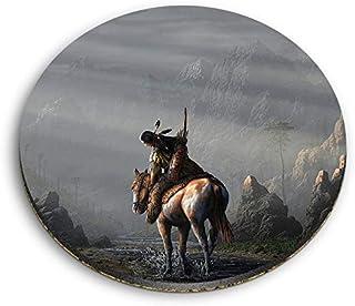 Destination 45399 Aimants ronds en MDF pour chevaux Indiens Indiens Indiens Américains Chevaux pour bureau, armoire et tab...