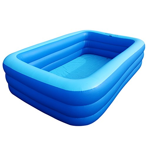 Bañeras con Jacuzzi Inflable Piscina Hinchable Adultos hidromasaje Piscina Familiar bebés (Color : Blue, Size : 258 * 165 * 65cm)