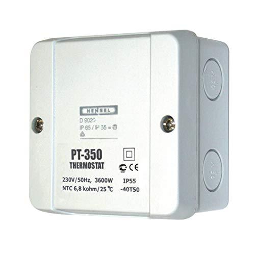 PT350 - Termostato para calefacción de superficie libre con sensor remoto