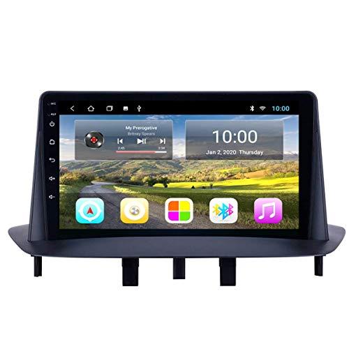 Navegación GPS, 10.1 pulgadas 2.5D Pantalla táctil Android 9.0 Sistema de navegación GPS Wifi Bluetooth Radio para automóvil para Renault Megan 3, Navegación GPS DvD para automóvil, WIFI 1G + 16G