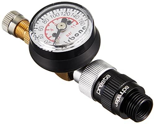 エアボーン(Airbone) ZT-618 空気圧ゲージ 最大150PSI 米/仏バルブ対応 手持ちのポンプにゲージ機能を追加!