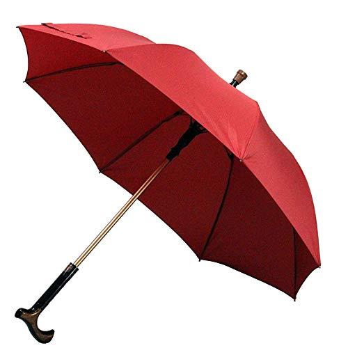 Jnzr 2-in-1 wandelstokken paraplu, aluminiumlegering paraplupaal multifunctionele anti-slip krukparaplu mannen vrouwen cadeau krukje paraplu