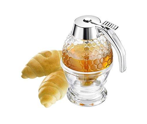 Vintage acrílico Bee Hive Jarabe dispensador de miel, no gotean