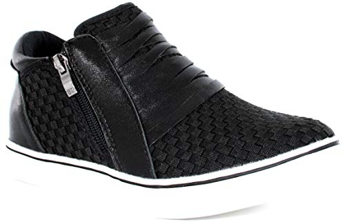B M BERNIE MEV NEW YORK Slope Ingrid Women's Boots - Botin Casual con pequña cuña, Cierre con Cremallera con Planta de Memory Foam Forrado en Piel con Suela de Goma Tipo Casco (Black, Numeric_41)