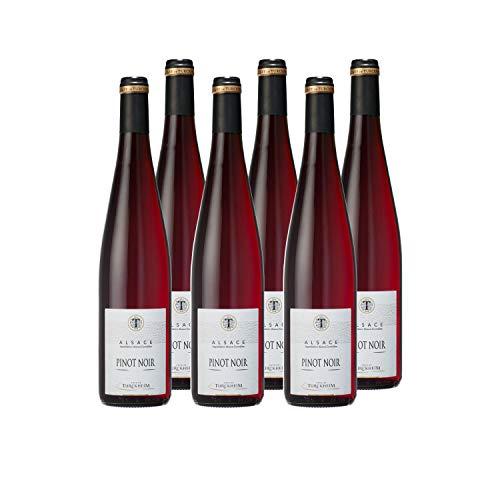 Cave de Turckheim - Pinot Noir - AOP Alsace - Vin Rouge - Lot de 6 bouteilles x 75cl