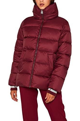ESPRIT Damen 099Ee1G042 Jacke, Rot (Bordeaux Red 600), Small (Herstellergröße: S)