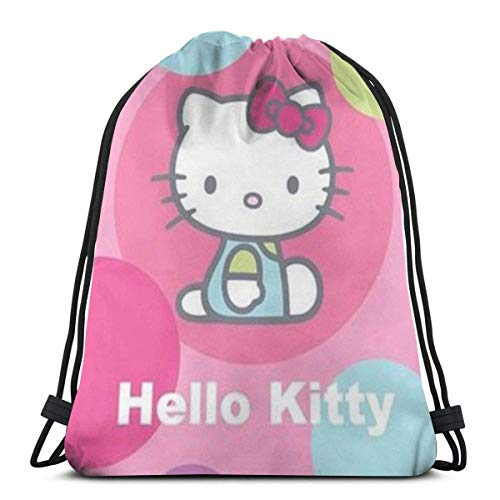 zicheng Classic Drawstring Bag-Hello Kitty Gym Backpack Shoulder Bags Sport Storage Bag for Man Women