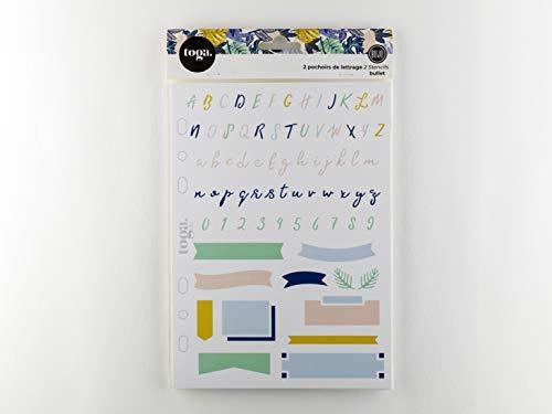 Toga alfabet sjablonen Bullet Journal, kunststof, transparant, 15 x 28 cm