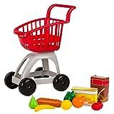 ColorBaby -  Carrito supermercado con accesorios, Rojo My Home Colors (43289)