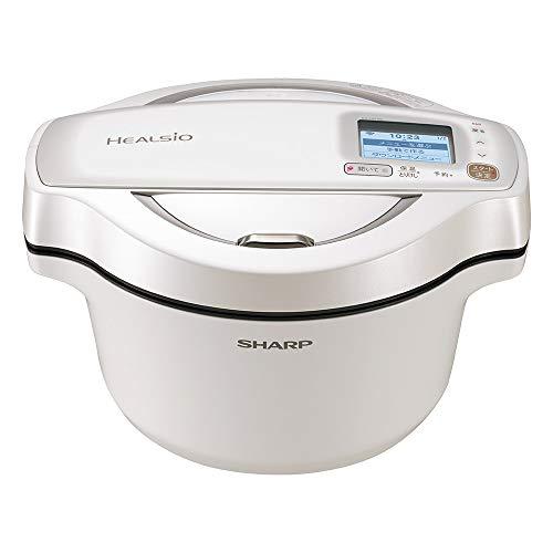 シャープ 自動調理 無水 鍋 ヘルシオ ホットクック 1.6L 無水鍋 AIoT対応 ホワイト KN-HW16E-W