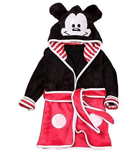 Mickey Bademantel - Mickey Mouse Bademantel - Nacht - Schlafanzug - Junge - weiches Fleece - mit Kapuze - Figuren - größe 110-3/4 Jahre - Maus Mickey Mouse
