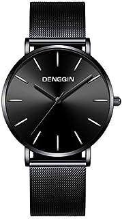 Lakhum Stainless Steel Mesh Strap Men Analog Quartz Quartz Wrist Watch Tone Casual Simple Dress Watch