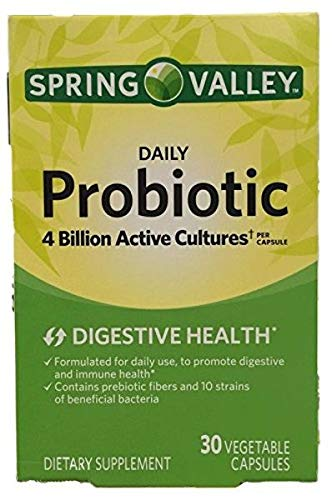 Spring Valley Daily Probiotic Dietary Supplement Capsules, 30 count