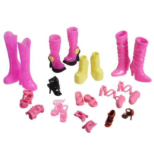 11 Paires de Chaussure à Lanière Talon Haut pour Poupée Barbie