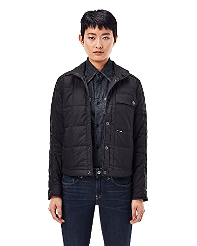G-STAR RAW Womens Quilted Jacket, Dk Black 4481-6484, M