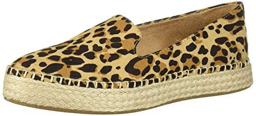 Dr. Scholl's Shoes womens Find Me Loafer Flat, Tan/Black Leopard, 11 US