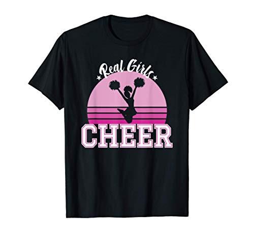 Cheerleading Real Girls Cheer Pompons Cheerleader Gift T-Shirt