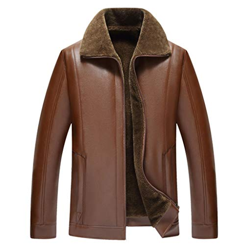 1-1 heren herfst-winter-lederen jas zwart buiten motorfiets slim fit racing biker trenchcoat mannen bruin modern casual business blazer top