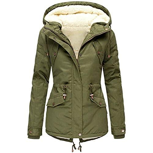 N\P Color de las mujeres Cintura con capucha Abrigo acolchado Invierno Camping Ropa