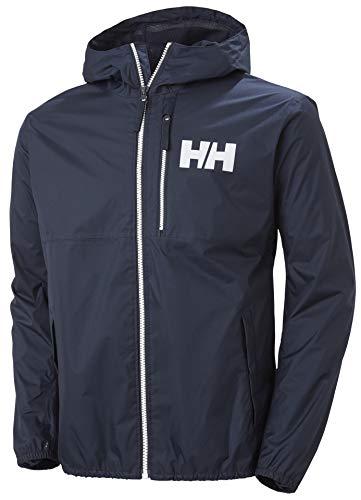 Helly Hansen Belfast - Chubasquero para hombre (2 unidades), Hombre, Chaqueta impermeable para hombre., 53424, azul marino, medium