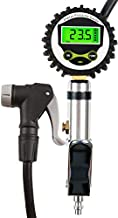 Digital Universal Bicycle Tire Inflator Gauge with Auto-Select Valve Type - Presta and Schrader Air Compressor Tool